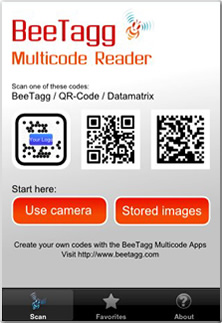 BeeTagg Reader Screenshot